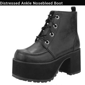 Distressed Ankle Nosebleed Boots
